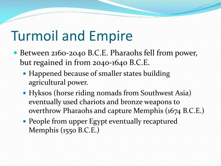 Turmoil and Empire