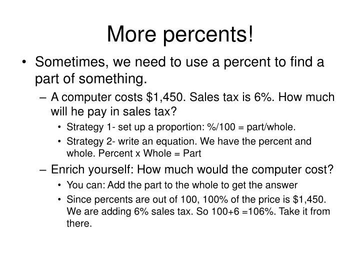 More percents!