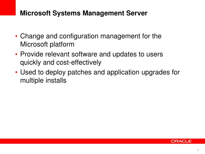 Microsoft Systems Management Server