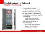 oracle database 11g release 2 simplified provisioning