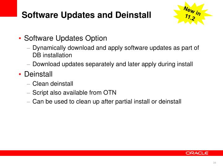 Software Updates and Deinstall
