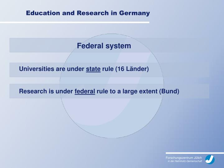 Education and research in germany