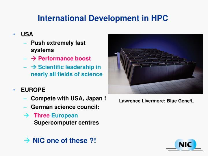 International Development in HPC