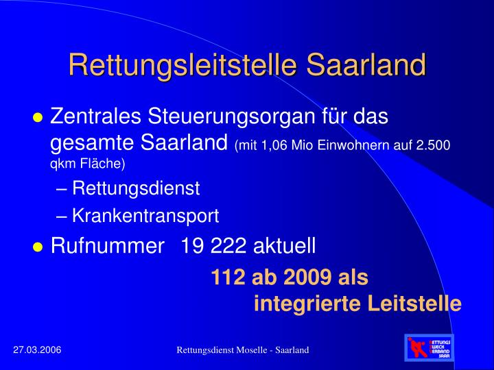 Rettungsleitstelle Saarland