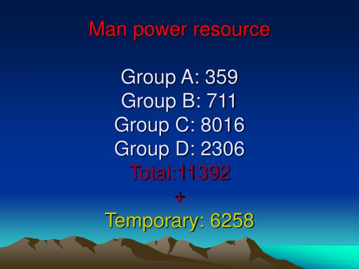 Man power resource