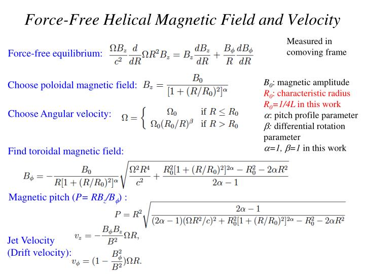 Force-Free Helical Magnetic Field and Velocity