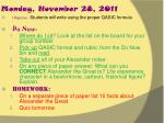 monday november 28 2011