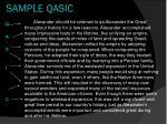 sample qasic