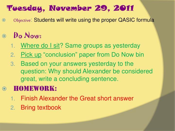 Tuesday, November 29, 2011