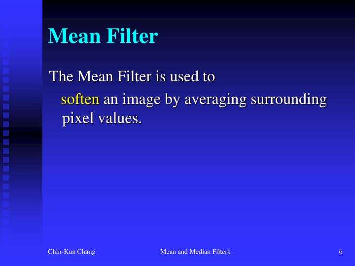 Mean Filter