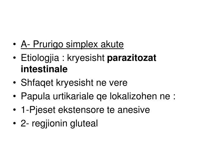 A- Prurigo simplex akute