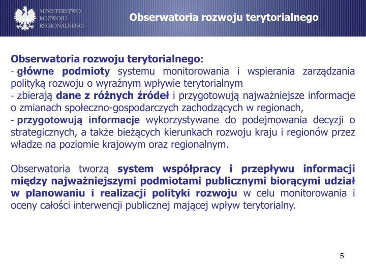Obserwatoria rozwoju terytorialnego