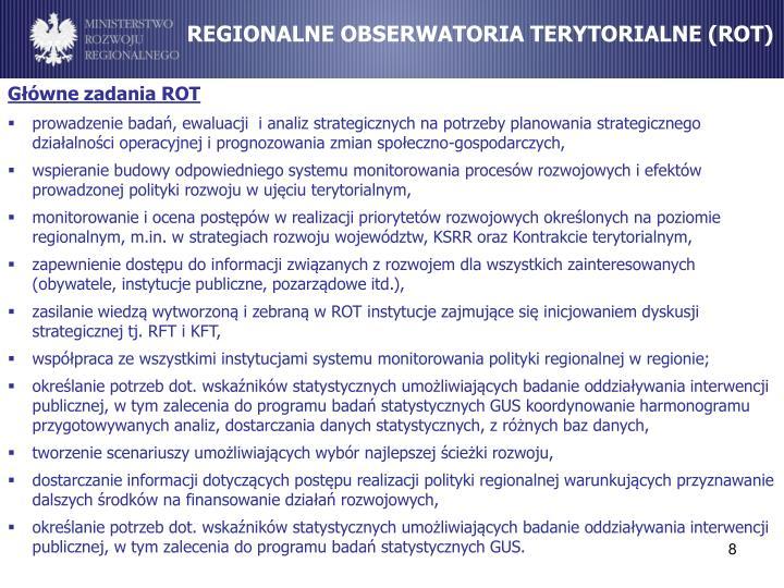 REGIONALNE OBSERWATORIA TERYTORIALNE (ROT)