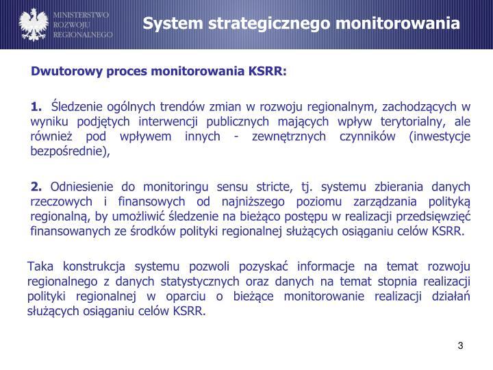 System strategicznego monitorowania