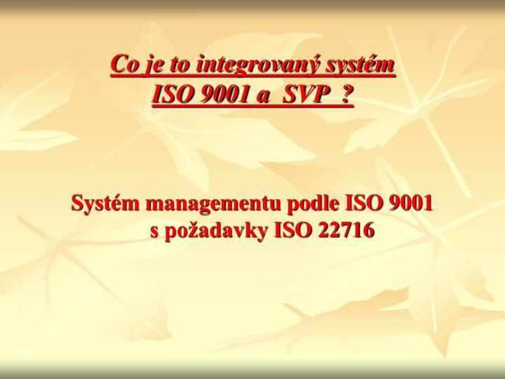 Co je to integrovaný systém