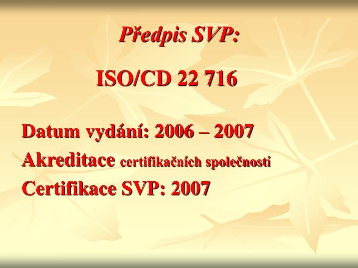 Předpis SVP: