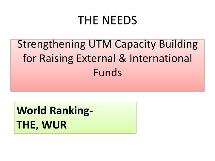 Strengthening UTM Capacity Building for Raising External & International Funds