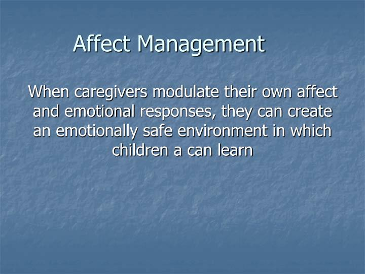 Affect Management