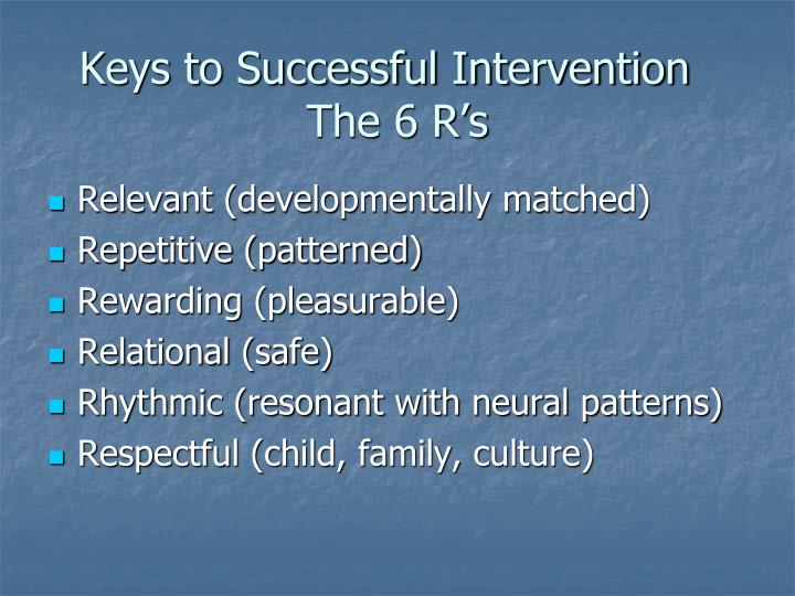Keys to Successful Intervention