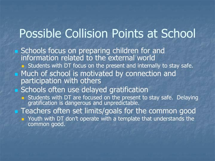 Possible Collision Points at School