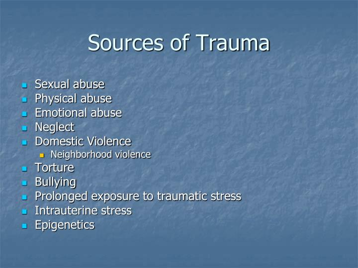 Sources of Trauma