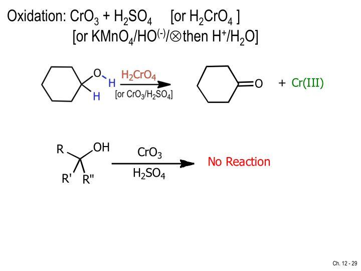 Oxidation: CrO