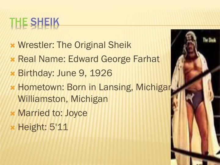 Wrestler: The Original Sheik