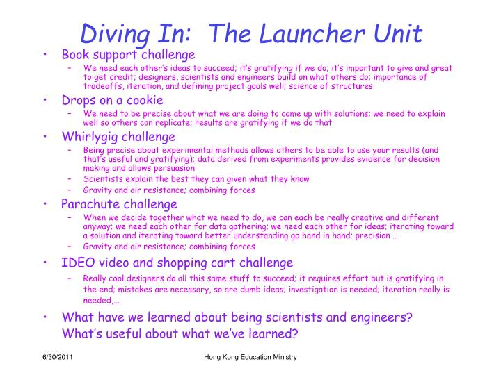 Diving In:  The Launcher Unit