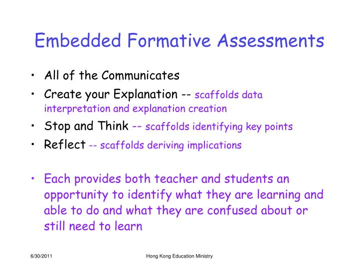 Embedded Formative Assessments