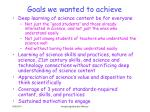 goals we wanted to achieve1