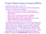 project based inquiry science pbis