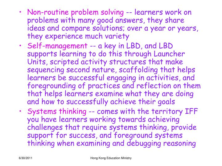 Non-routine problem solving