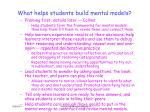 what helps students build mental models