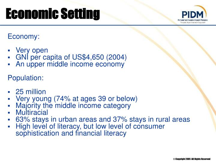 Economic Setting