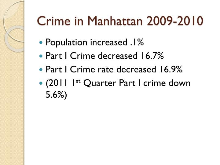 Crime in Manhattan 2009-2010