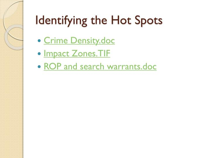 Identifying the Hot Spots