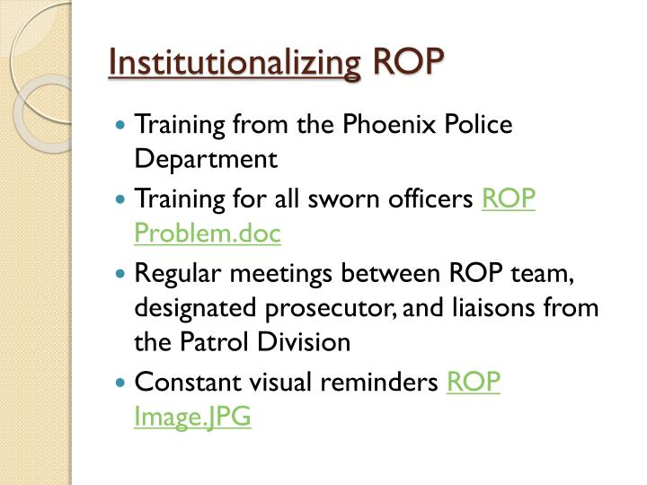 Institutionalizing