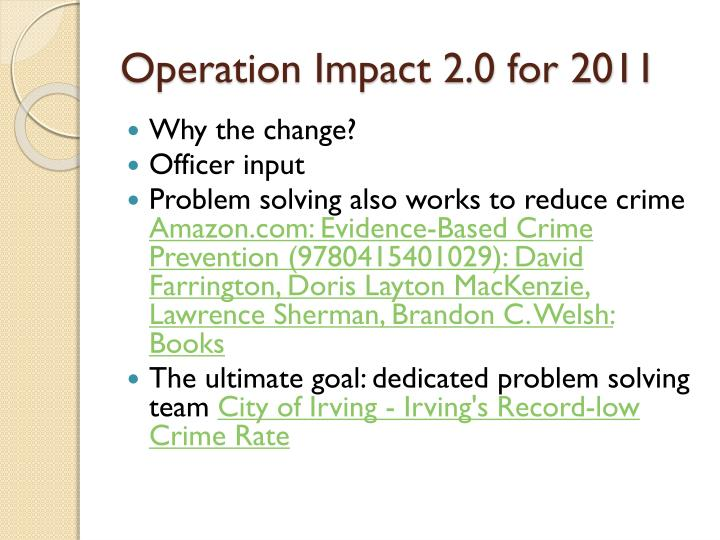 Operation Impact 2.0 for 2011