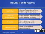 individual and systemic