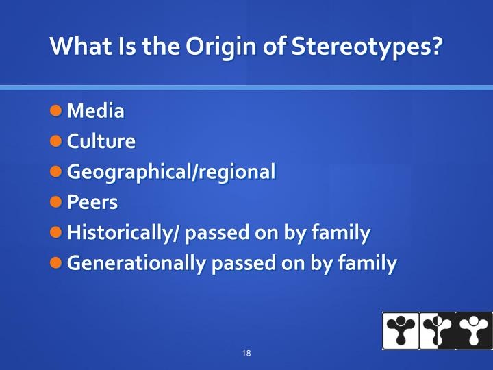 What Is the Origin of Stereotypes?