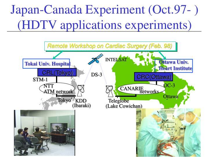 Japan-Canada Experiment (Oct.97- )