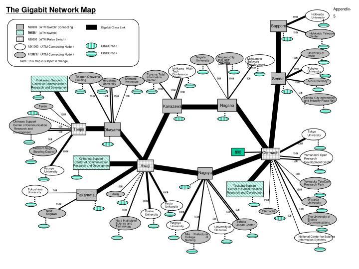 The Gigabit Network Map