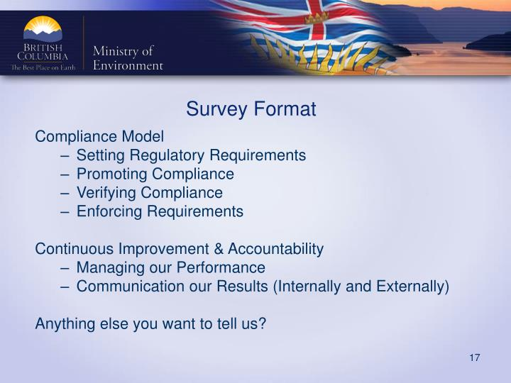 Survey Format