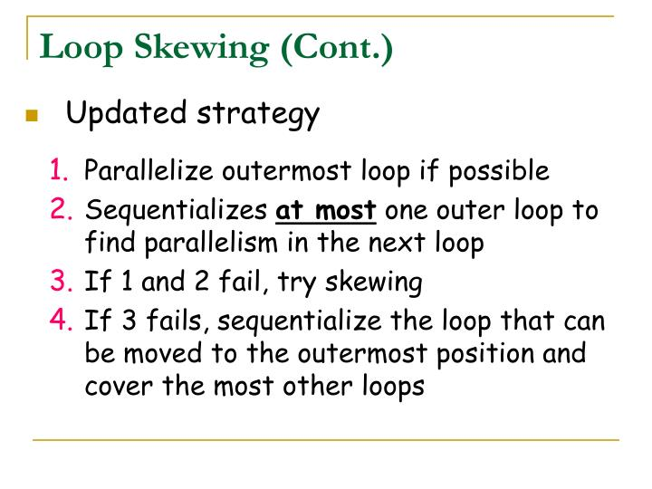 Loop Skewing (Cont.)