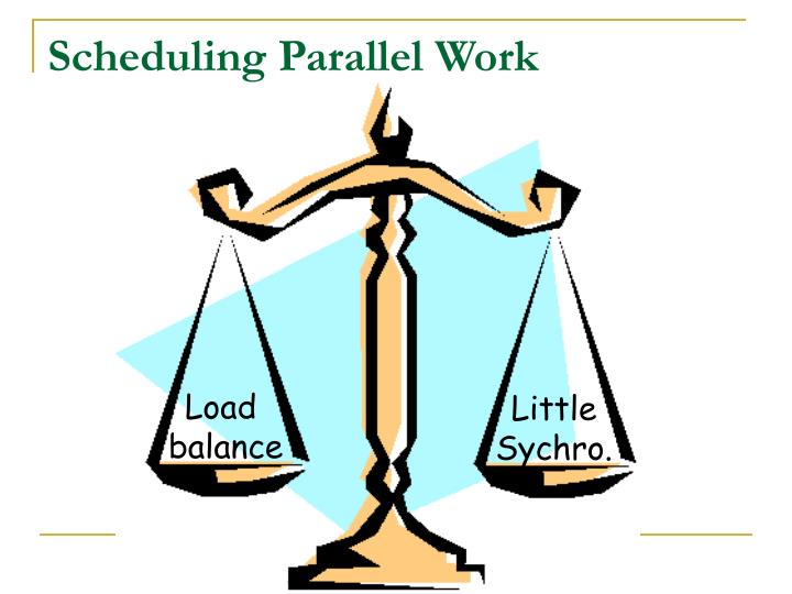 Scheduling Parallel Work