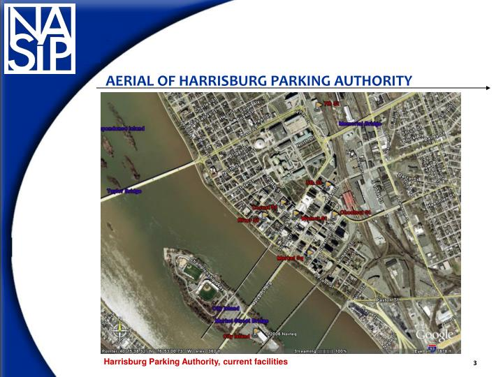 AERIAL OF HARRISBURG PARKING AUTHORITY