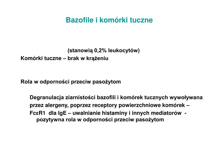Bazofile i komórki tuczne