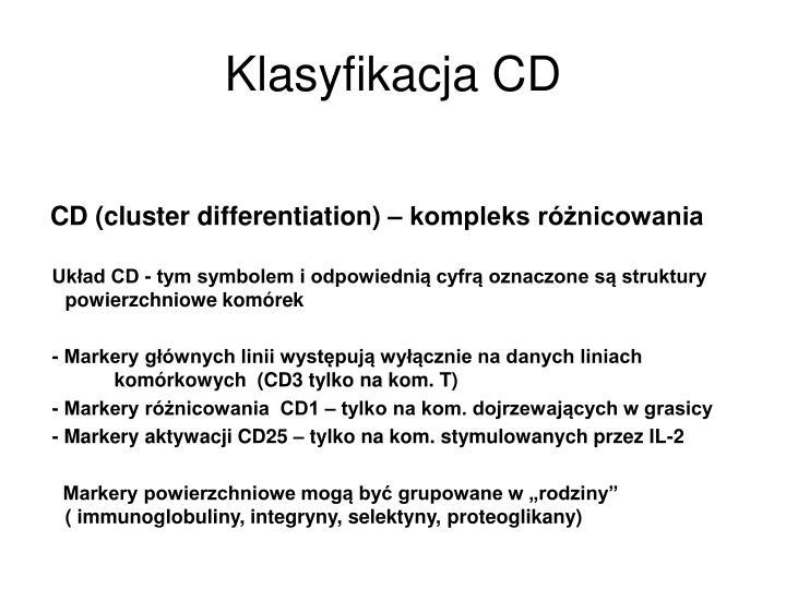 Klasyfikacja CD