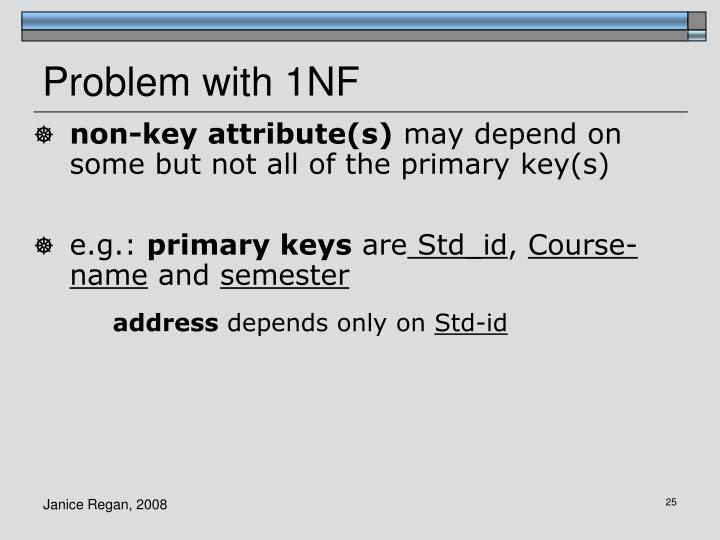 Problem with 1NF