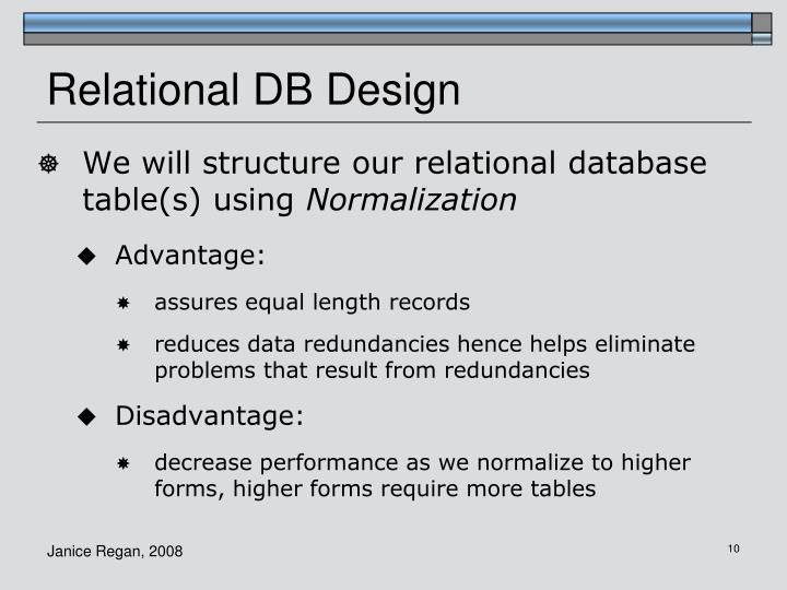Relational DB Design
